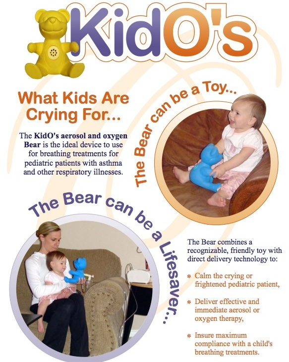 KidO's aerosol and oxygen bear