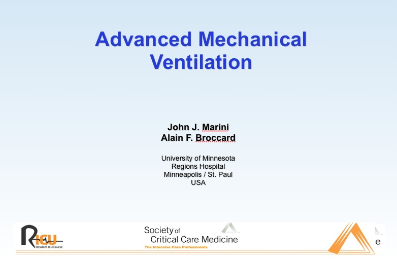 Advanced Mechanical Ventilation (powerpoint)