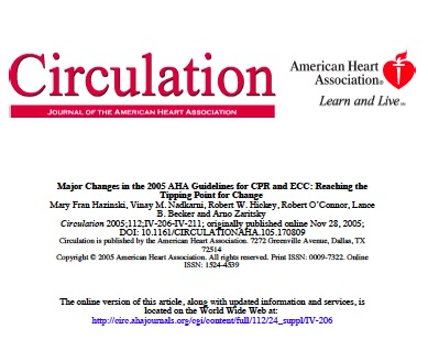 major changes in the 2005 aha guidelines for cpr and ecc british rh bcrt ca American Heart Association CPR 2015 AHA CPR Checklist