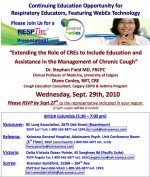 """""""Extending the Role of CREs to Include Education and Assistance in the Management of Chronic Cough"""""""