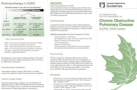 2008 COPD guidelines and information