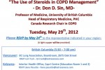 The Use of Steroids in COPD Management &#8211; Dr. Don D. Sin, MD