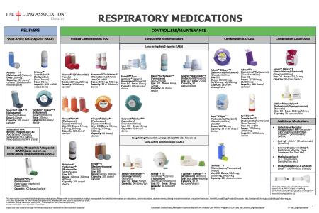 New Bronchodilator Inhaler Device Chart