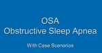 OSA refresher powerpoint with case studies